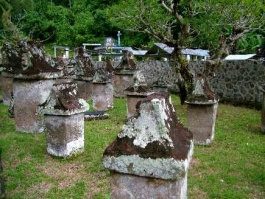 Ile de Sulawesi, Sawangan (tombeaux)