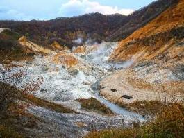Hokkaidō, Jigokudani (vallée)