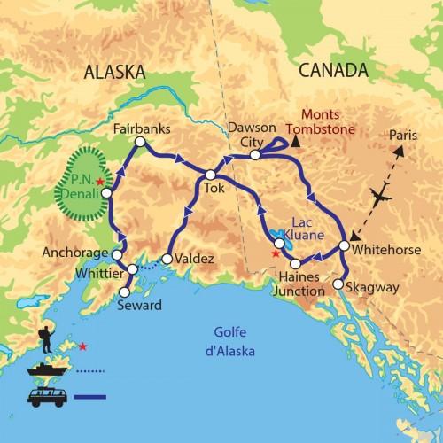 Carte : Alaska - Lumières du Grand Nord