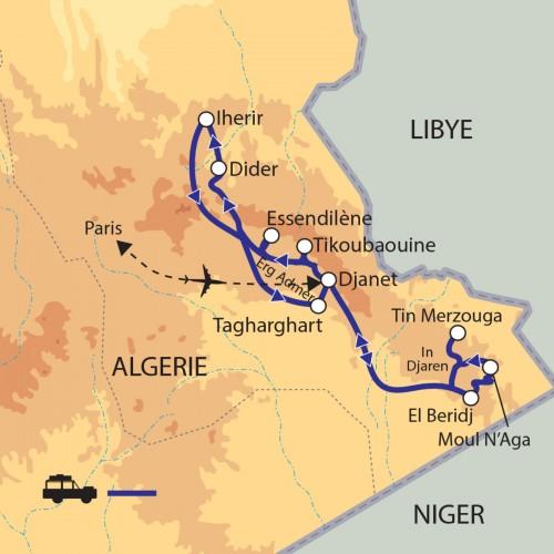 Carte : Algérie - Expédition dans le Tassili N'Ajjer
