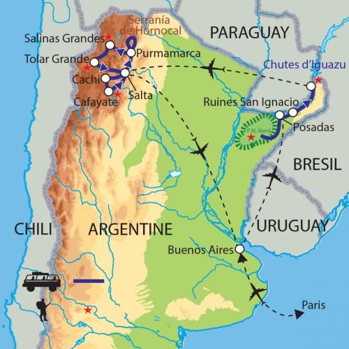 Carte : Argentine - Escapade dans le Nord Argentin