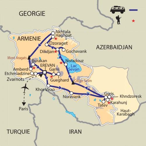 Carte : Arménie - Randonnées, nature, culture