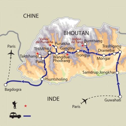 Carte : Bhoutan - Grand Bhoutan