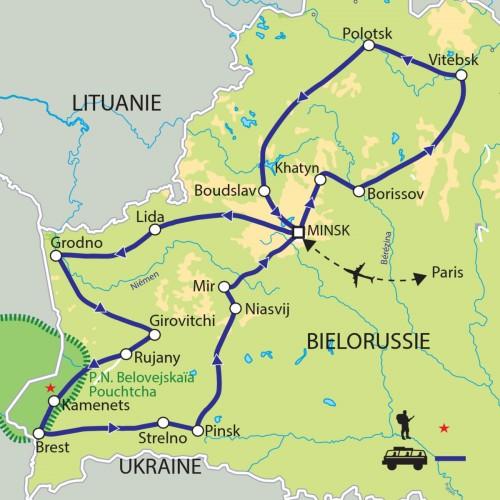 Carte : Biélorussie - Le pays aux yeux bleus