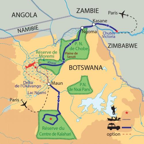 Okavango carte afrique
