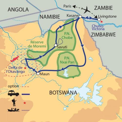 Carte : Botswana - Expédition au coeur du Botswana