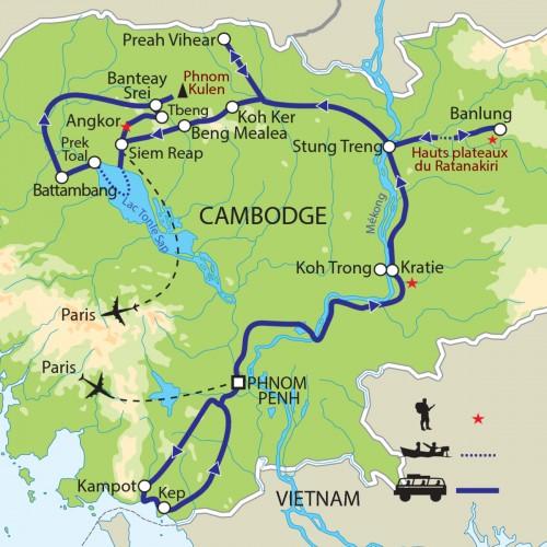 Carte : Cambodge - L'eau, les hommes, les dieux