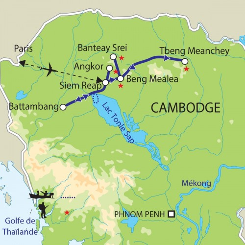 Carte : Cambodge - Rêves d'Angkor