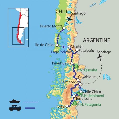 Carte : Chili - La route australe