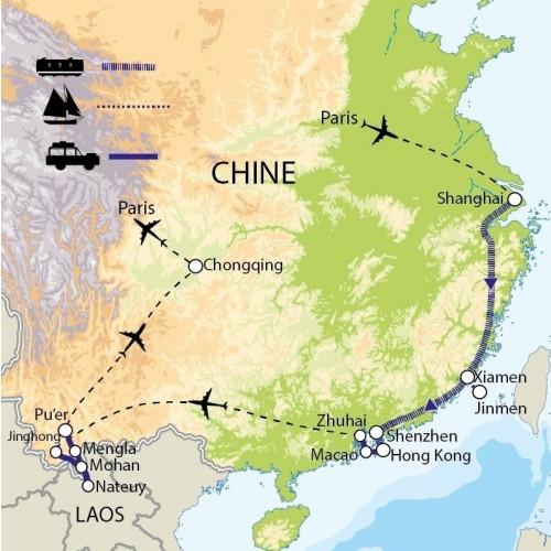 Carte : Chine - Voyage géopolitique, avec Emmanuel Véron