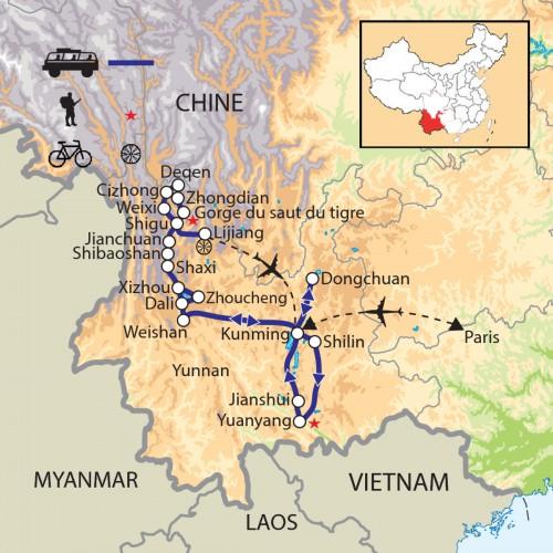Carte : Chine - Minorités du Yunnan, sur la route du thé et des chevaux