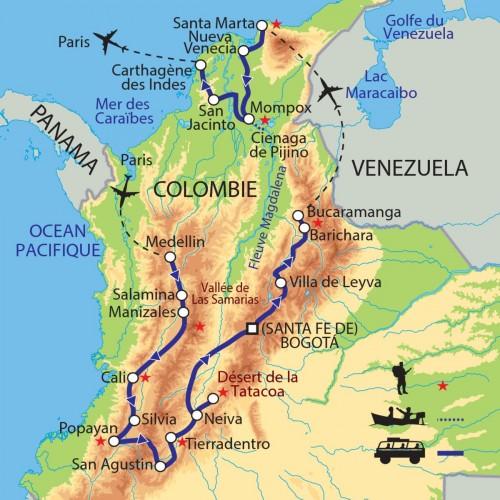 Carte : Colombie - Mosaïque colombienne