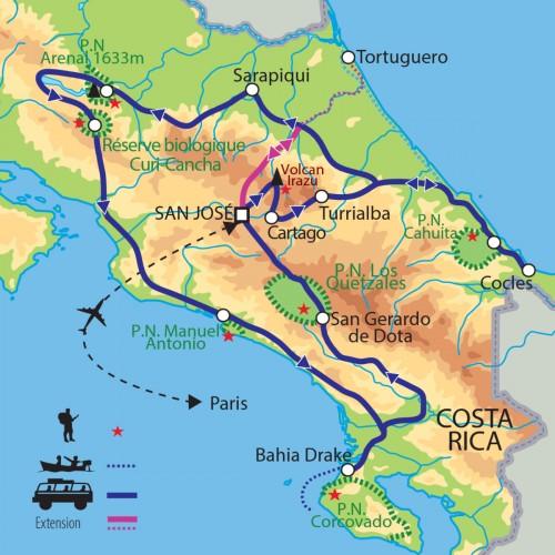 Carte : Costa Rica - Pura Vida