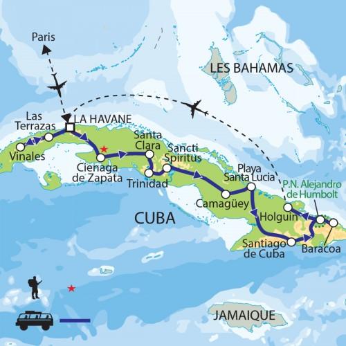Carte : Cuba - Joyau brut des Caraïbes