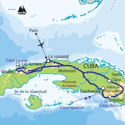 Carte : Cuba - Terre métisse