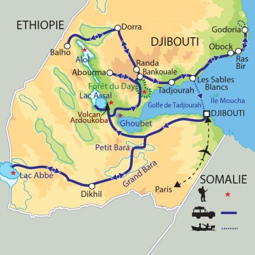 Carte : Djibouti - Le Sel de la Terre