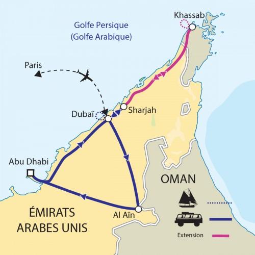 Carte : Emirats arabes unis - EXPOSITION UNIVERSELLE A DUBAI