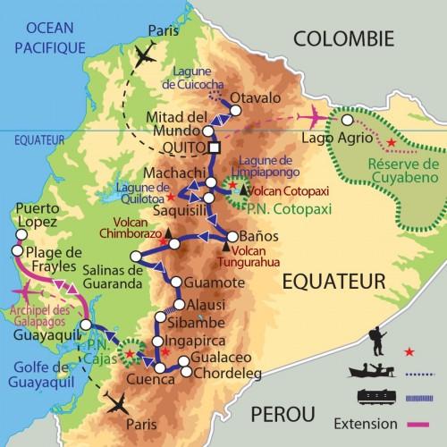 Carte : Equateur - La Mitad del Mundo
