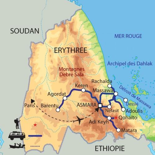Carte : Erythrée - Perle cachée de la Corne de l'Afrique