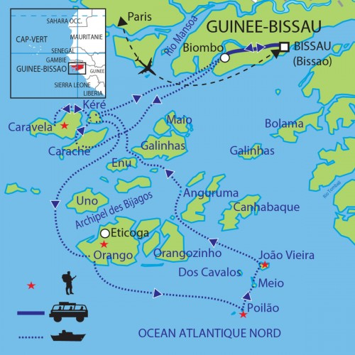 Carte : Guinée-Bissau - L'Archipel des Bijagos, des îles sacrées
