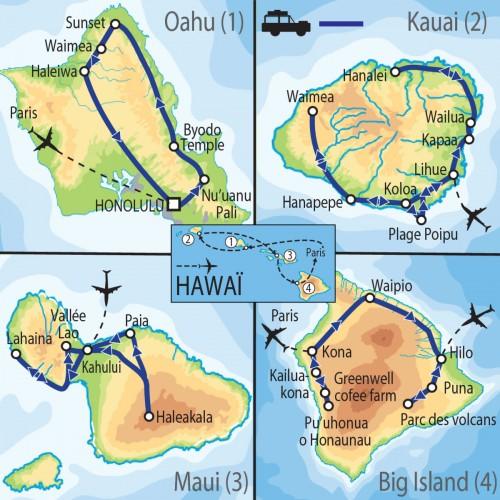 Carte : Hawai - Aloha ma Hawaii