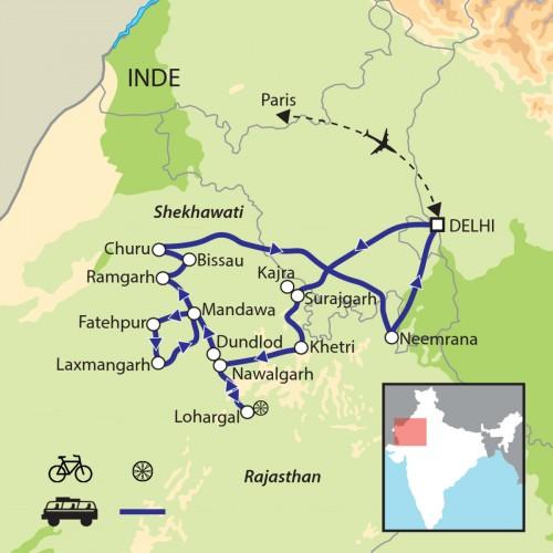 Carte : Inde - Shekhawati
