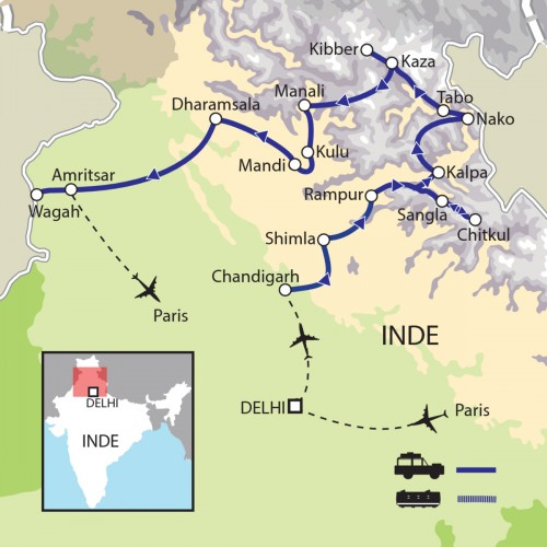 Carte : Inde - Kinnaur - Spiti