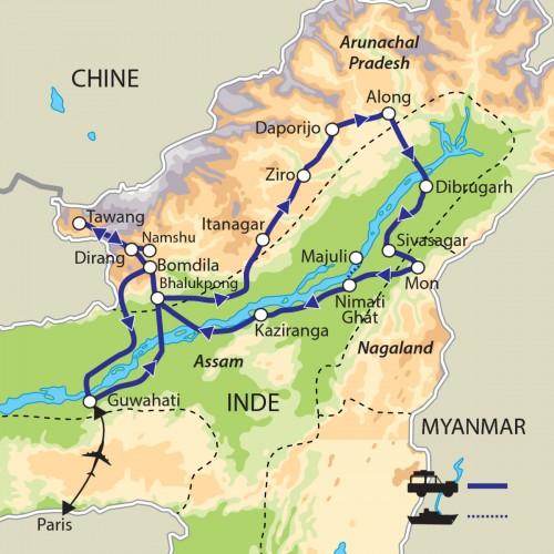 Carte : Inde - L'Inde improbable
