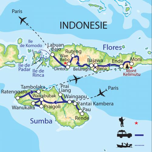 Carte : Indonésie - Sumba - Florès : Joyaux des îles de la Sonde