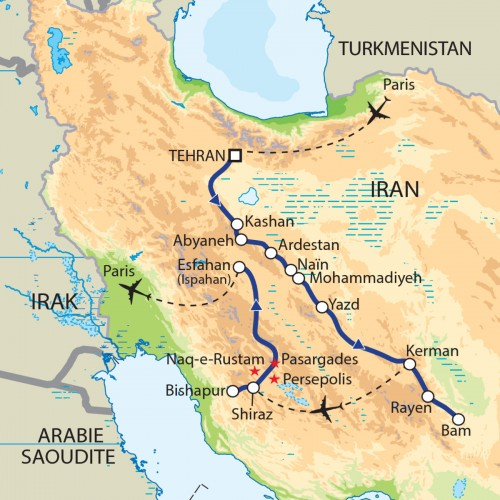 Carte : Iran - Magie persane