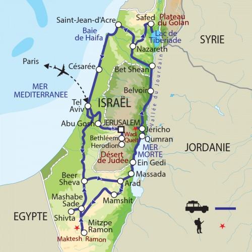 Carte : Israël Palestine - Les piliers de la terre
