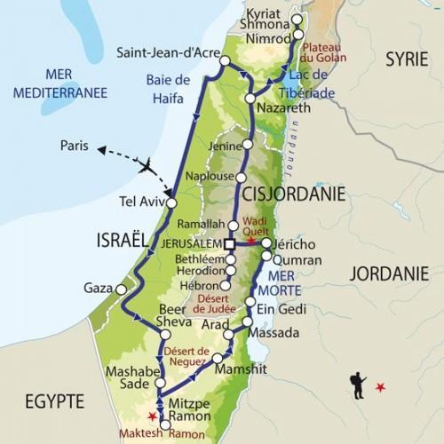 Carte : Israël Palestine - Regards géopolitiques