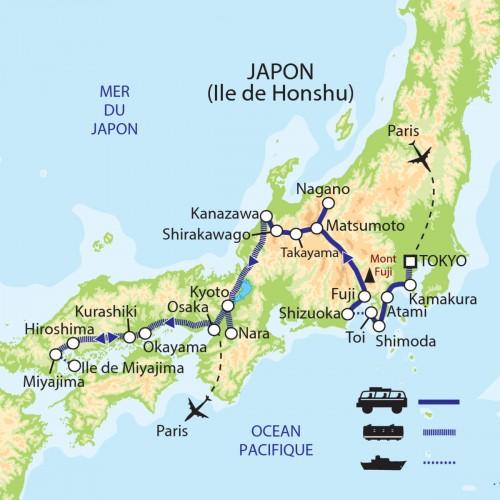 Carte : Japon - Le passé au présent