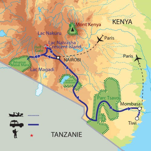 Carte : Kenya - Un Safari africain