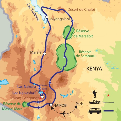Carte : Kenya - Expedition: Rencontre avec les peuplades du Rift
