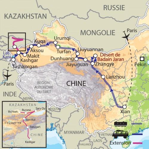 Carte : Chine - Une nouvelle Route de la Soie