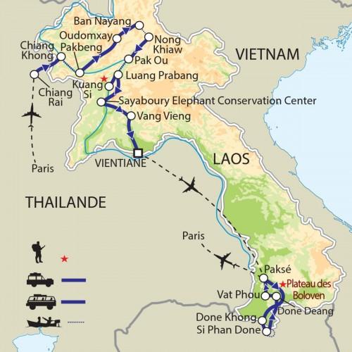 Carte : Laos - De fil et d'or