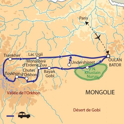 Carte : Mongolie - Peuple des steppes