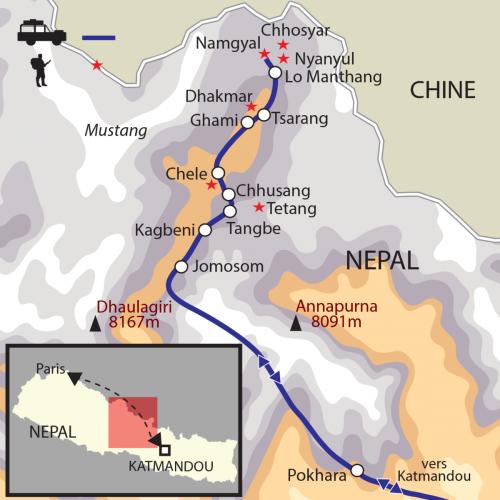 Carte : Népal - Mustang - le royaume interdit