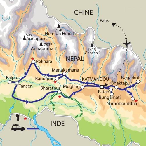 Carte : Népal - Promenades himalayennes