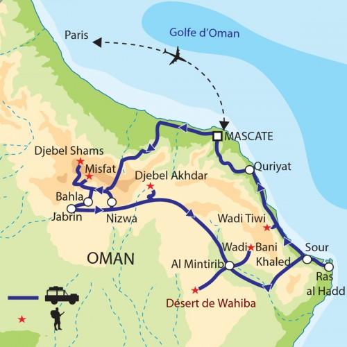 Carte : Oman - Au pays du sultan