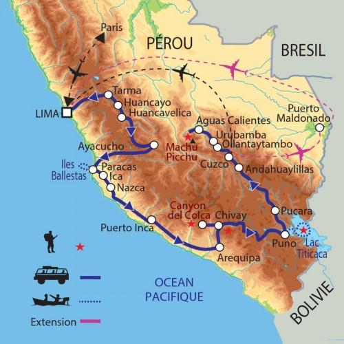 Carte : Pérou - Andes sacrées et fêtes péruviennes