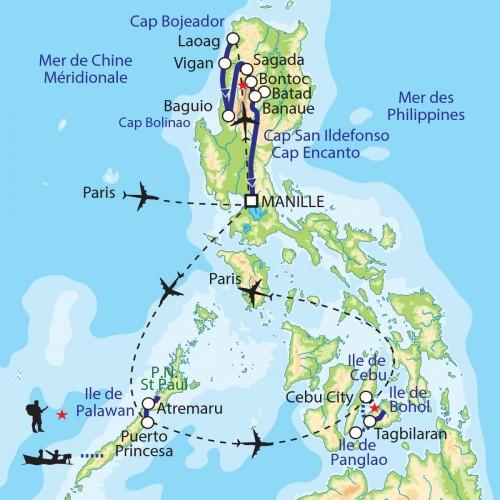 Carte : Philippines - Bâtisseurs de rizières et pêcheurs des îles