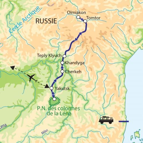 Carte : Russie - Yakoutie : terre des extrêmes