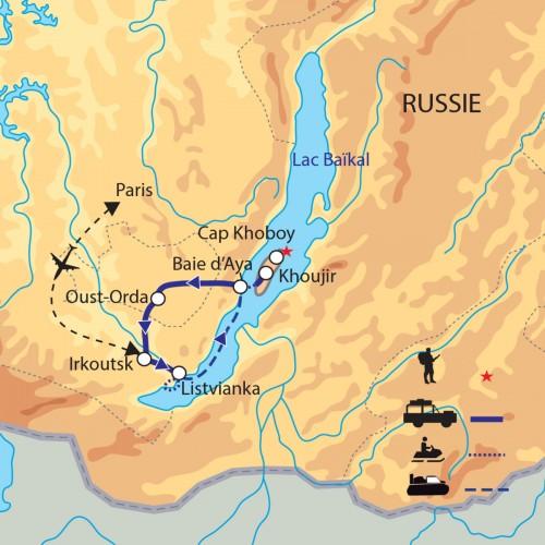 Carte : Russie - Baïkal, la magie de l'hiver