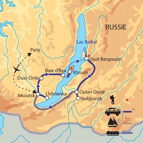 Carte : Russie - Irkoutsk et le lac Baikal, perle de Sibérie