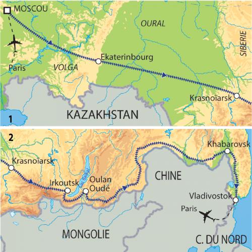 Carte : Russie - Transsibérien mythique
