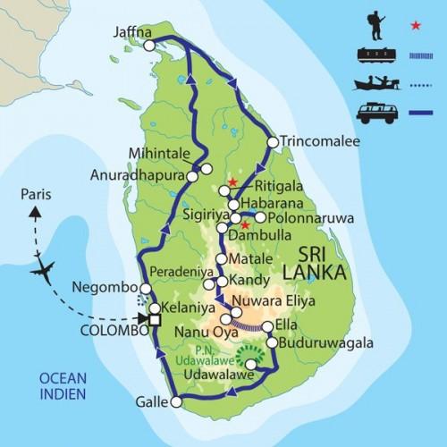 Carte : Sri Lanka - Le paradis retrouvé