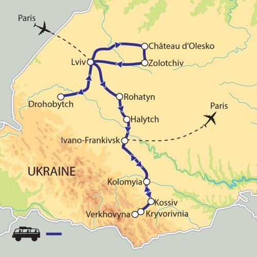 Carte : Ukraine - Noël orthodoxe dans les Carpates