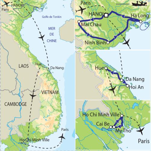 Carte : Vietnam - Les dragons du Mékong